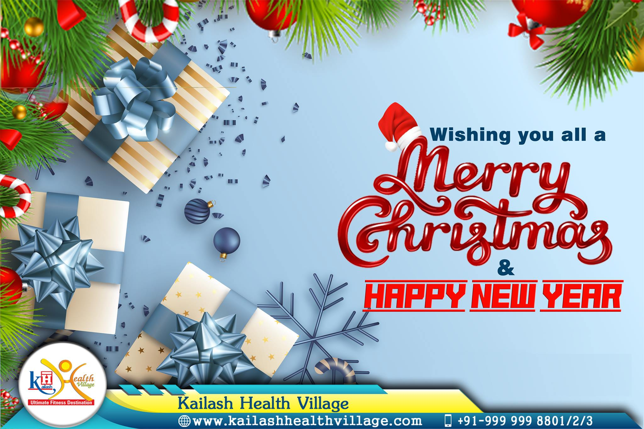 Let your Health shine bright & Life be full of delight. Kailash Health Village wishes you all a Merry Christmas & Happy New Year!