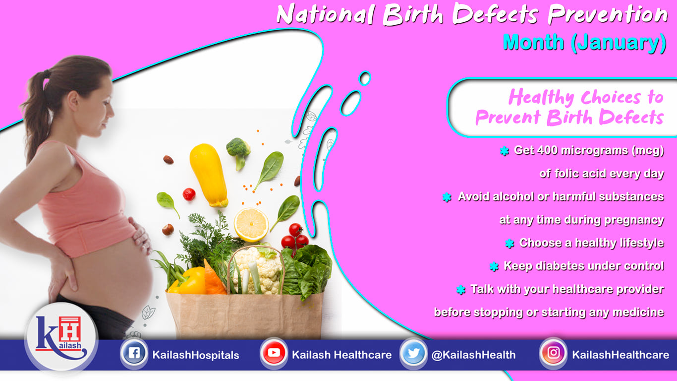 Birth defects are effectively preventable through turning to a healthy pregnancy with good lifestyle choices.
