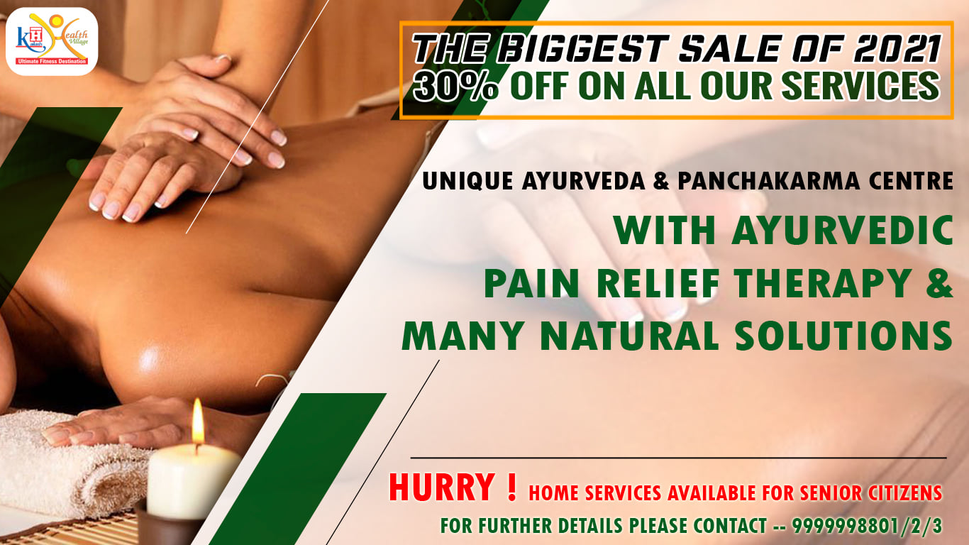 Avail 30% Discount on all our services at Unique Ayurveda & Panchakarma Centre with authentic Ayurveda Pain Management Therapies.