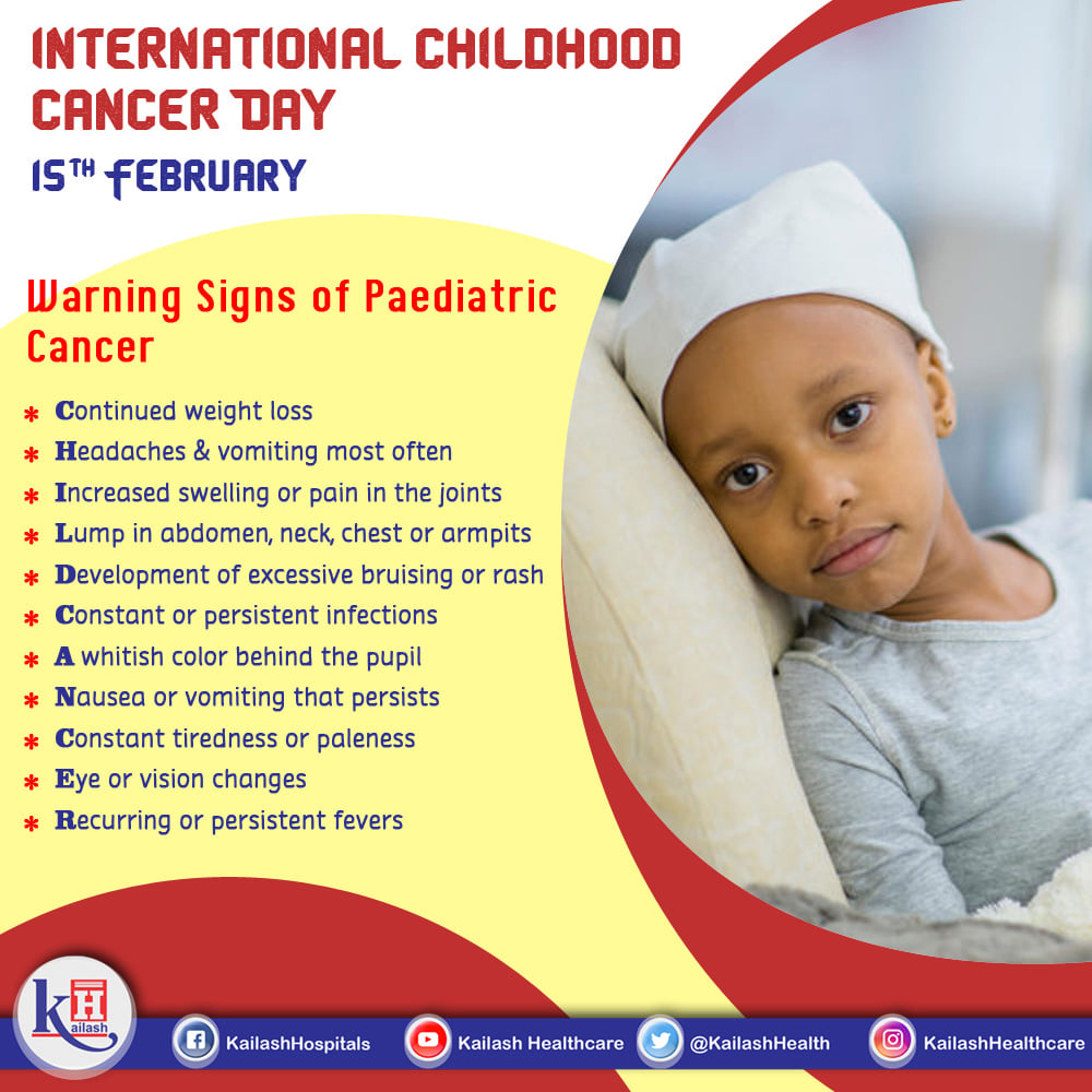 Early Diagnosis of Childhood Cancer can help in better management.