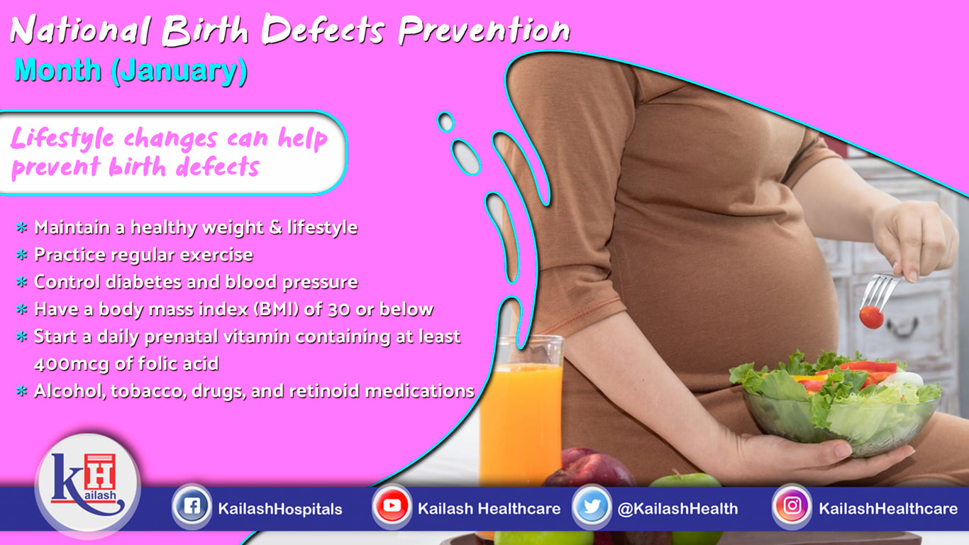 Lifestyle Changes & an active lifestyle during Pregnancy can help prevent birth defects in babies.