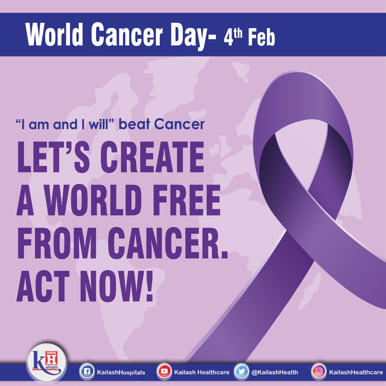 This World Cancer Day, Let's pledge to act towards Early Diagnosis & Prevention of Cancer.