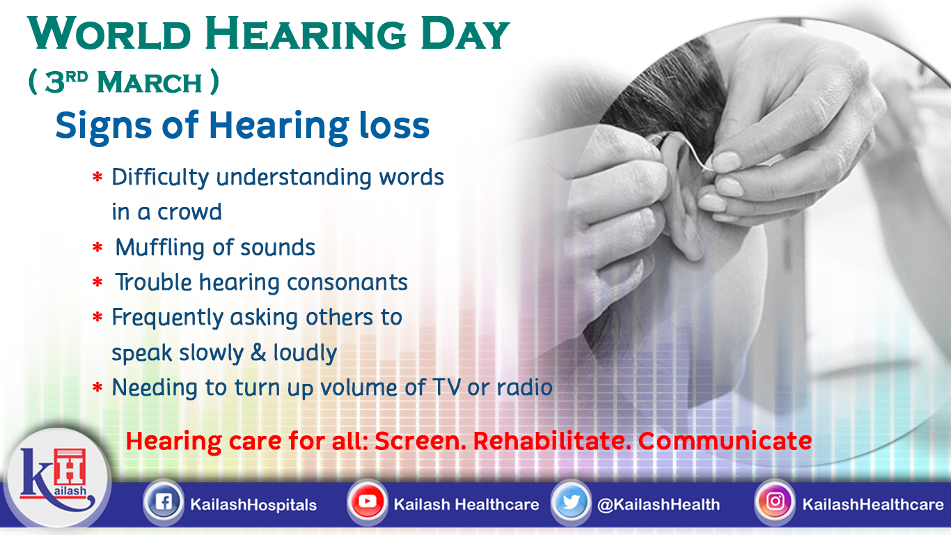 Do you have a hearing problem or require others to speak loudly? Get your Hearing test done!