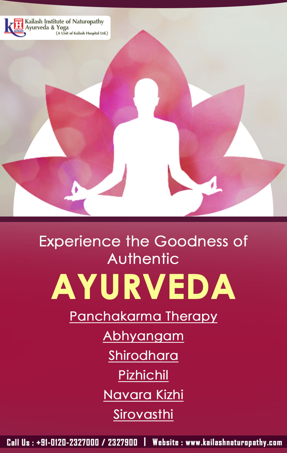Experience the Health benefits of Ayurveda Therapies at KINAY with all the authentic treatments for health problems & relaxation.