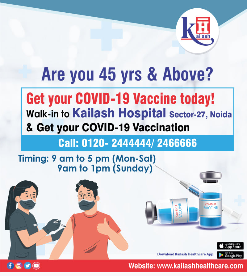 Now all citizens aged 45yrs & above can get their COVID Vaccination done conveniently.