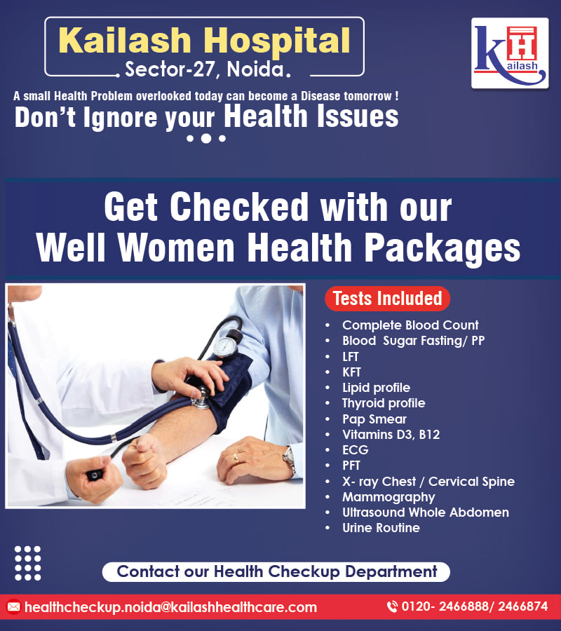 A small health problem ignored today can become a Disease later. Regular Health Check up can help in early diagnosis.