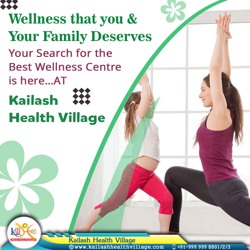 Searching for your City's Best Wellness Centre? Visit Kailash Health Village Noida for your most desired wellness services like Gym, Yoga, Ayurveda & Slimming.