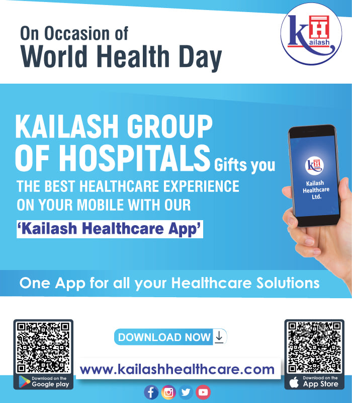 """""""Kailash Healthcare App"""" to ease your access to our Healthcare services in just a click!"""
