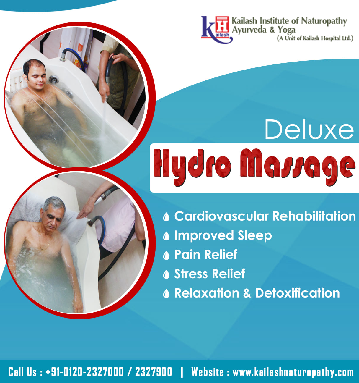 Get Naturopathy Deluxe Hydromassage for Cardiovascular Rehabilitation, Pain & Stress Relief at KINAY.