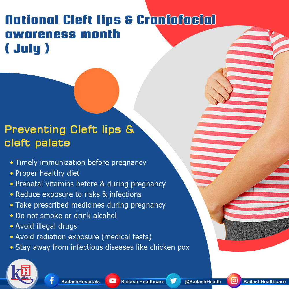 Taking folic acid during pregnancy can prevent many types of birth defects including Cleft & Craniofacial disorders.