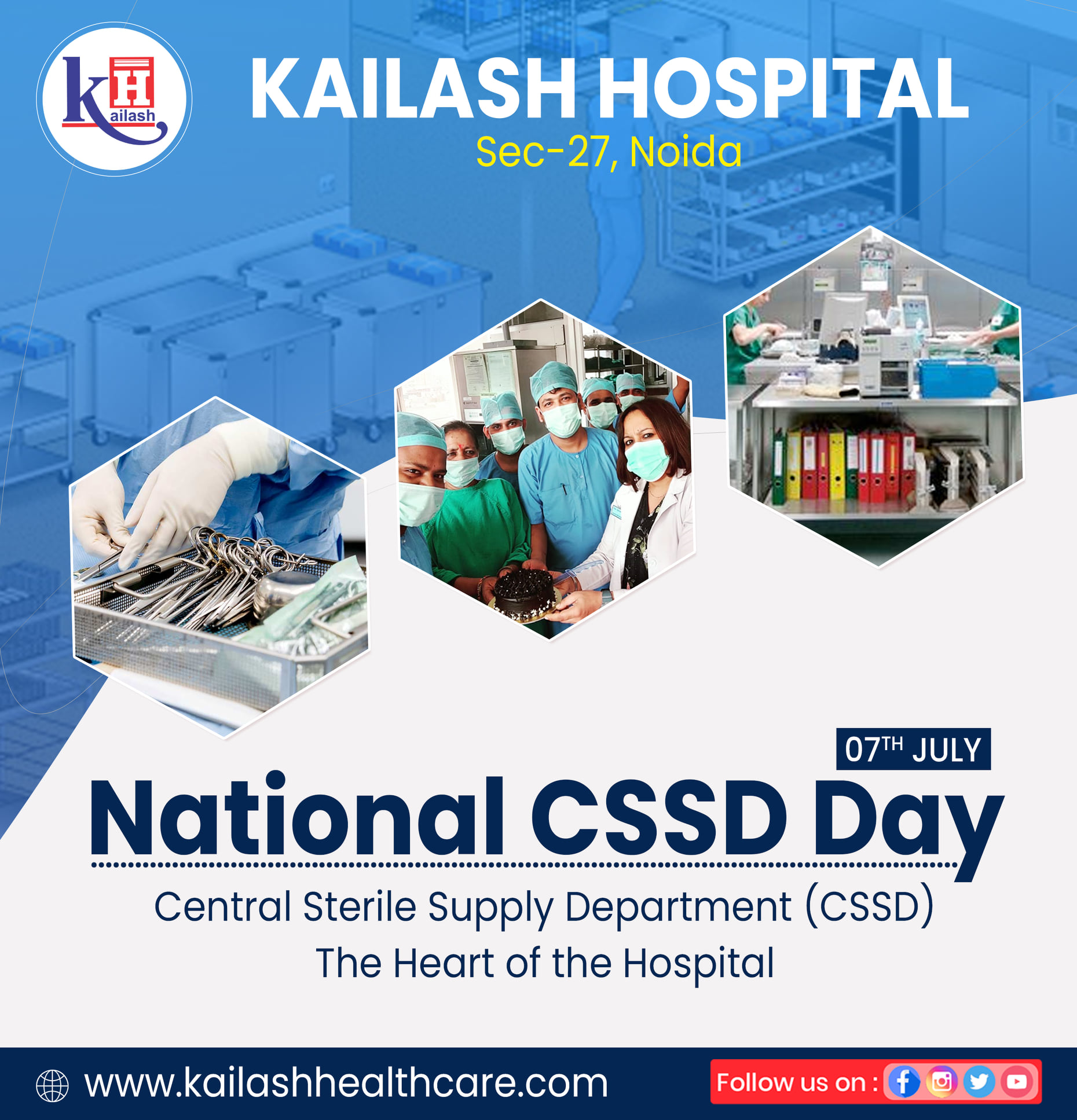 The CSSD plays a key role in providing the items required to deliver quality patient care & support infection control within the healthcare facility.
